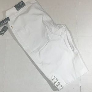 JM Collection white skimmer pants